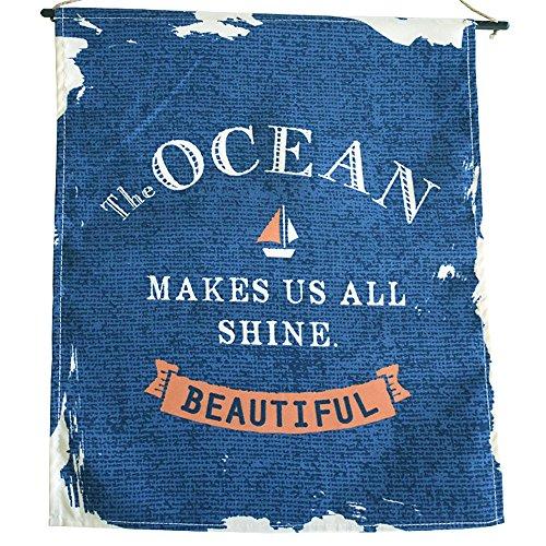 """Nautical Rustic Nursery Décor, Sail Away Boys Wall Art, Ocean Sailboat Theme Baby Shower Decoration 14"""" x 12"""""""