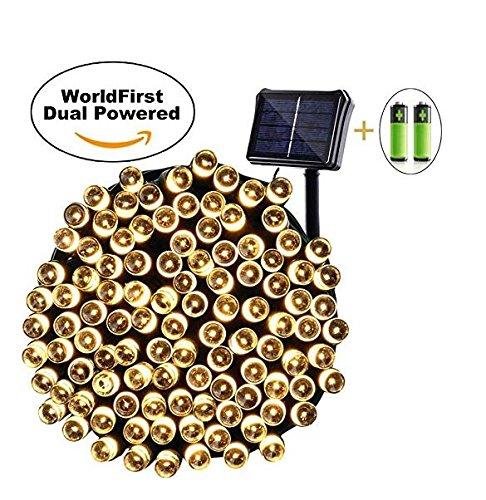 8 opinioni per Qedertek Catena Luminosa Solare&Batteria 22M con 200 Led(Bianca Calda) Luce