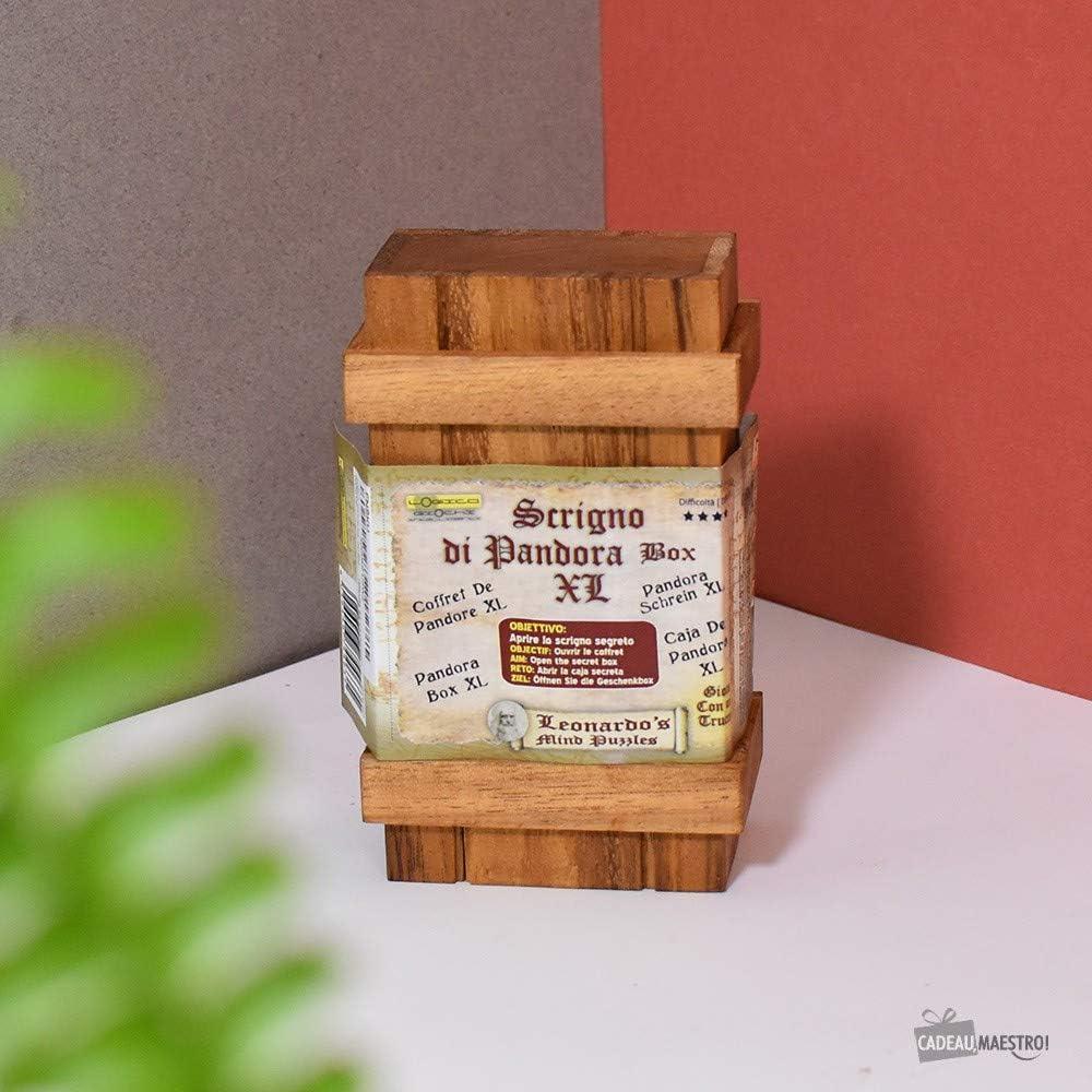 LOGICA GIOCHI Art. Caja de Pandora - Caja Secreta - Dificultad 3/6 Difícil - Rompecabezas De Madera - Colección Leonardo da Vinci (Doble): Amazon.es: Juguetes y juegos