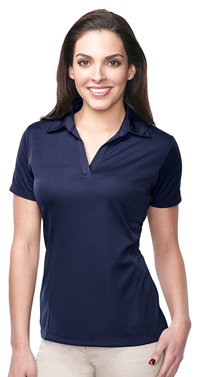 KL411 Tri-Mountain TempDown 5.3 oz 100/% Polyester Mini Grid Polo Shirt