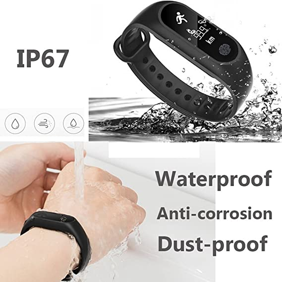 Beautyrain M2 Bluetooth Smart Bracelet with Blood Pressure Heart Rate Pedometer Send Explosion-Proof Film