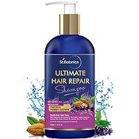 StBotanica Ultimate Hair Repair Shampoo, 300ml - No SLS/Sulphate, Paraben or Silicon - With Vitamin B3, B5, Organic Argan Oil, Almond Oil, Saw Palmetto, Coconut Oil.