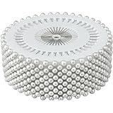 Accessories Attic® - Confezione di 480spilli con testa a forma di perla, ideali per decorazione di nozze, artigianato e sartoria, colore: bianco