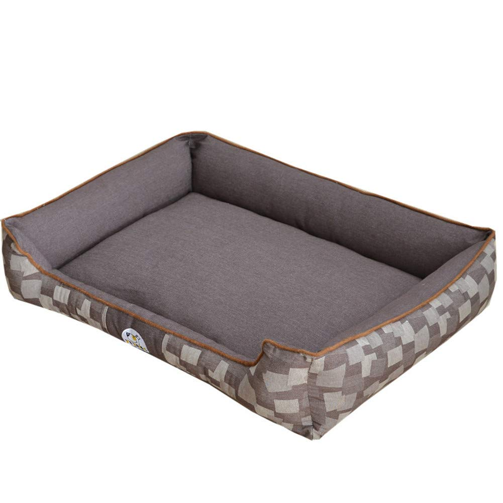 Brown S Brown S Removable Pet Bed,Ultra Soft Cozy Washable cat Dog mat eases pet Arthritis & Hip dysplasia Pain Kennel Cushion-Brown S