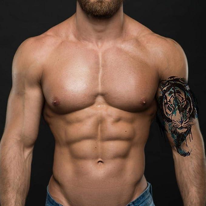 12-16PCS Tatuajes Temporales-Grande Tatuaje-Cuerpo Pegatinas para ...