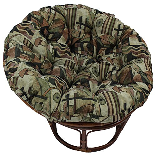 Blazing Needles Patterned Tapestry Papasan Chair Cushion, 48 x 6 x 48 , Picasso