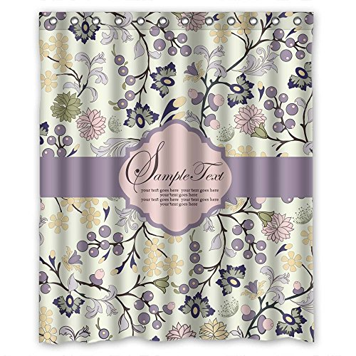 cosbudy Easy Clean Polyester Shower Curtain, Flower, Size Width X Height / 60 X 72 Inches/W H 150 by 180 cm Modern Design, Best Fit for Bathroom ()