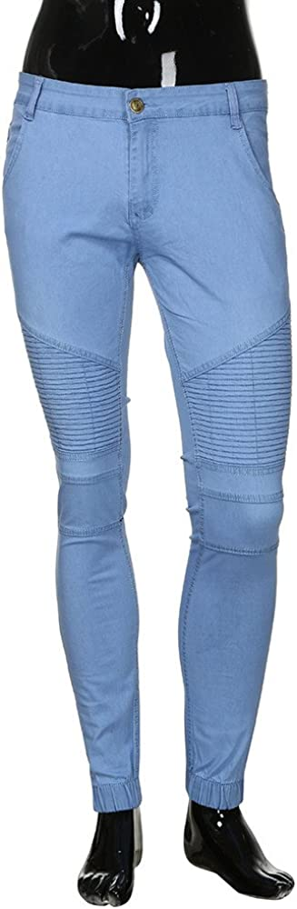 Vpass Pantalones Vaqueros Para Hombre Pantalones Color Solido Casuales Moda Jeans Rotos Trend Largo Pantalones Pants Skinny Pantalon Fitness Jeans Largos Pantalones Ropa De Hombre Vaqueros Ropa