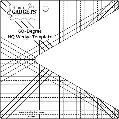 Handi Quilter 60 Degree Wedge Template for Quilting by Handi Quilter, Inc