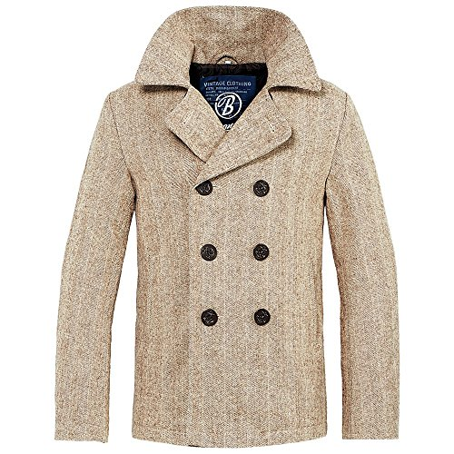 Herringbone Uomo Brandit Beige Blu Coat Pea Denim nZpwFqp