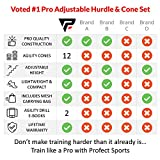 Pro Adjustable Hurdles and Cone Set – 6 Agility