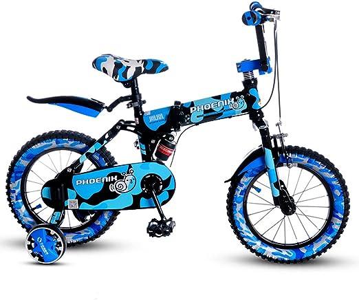 FLYSXP Bicicleta Plegable para niños 14 Pulgadas Chico Bicicleta 3 ...