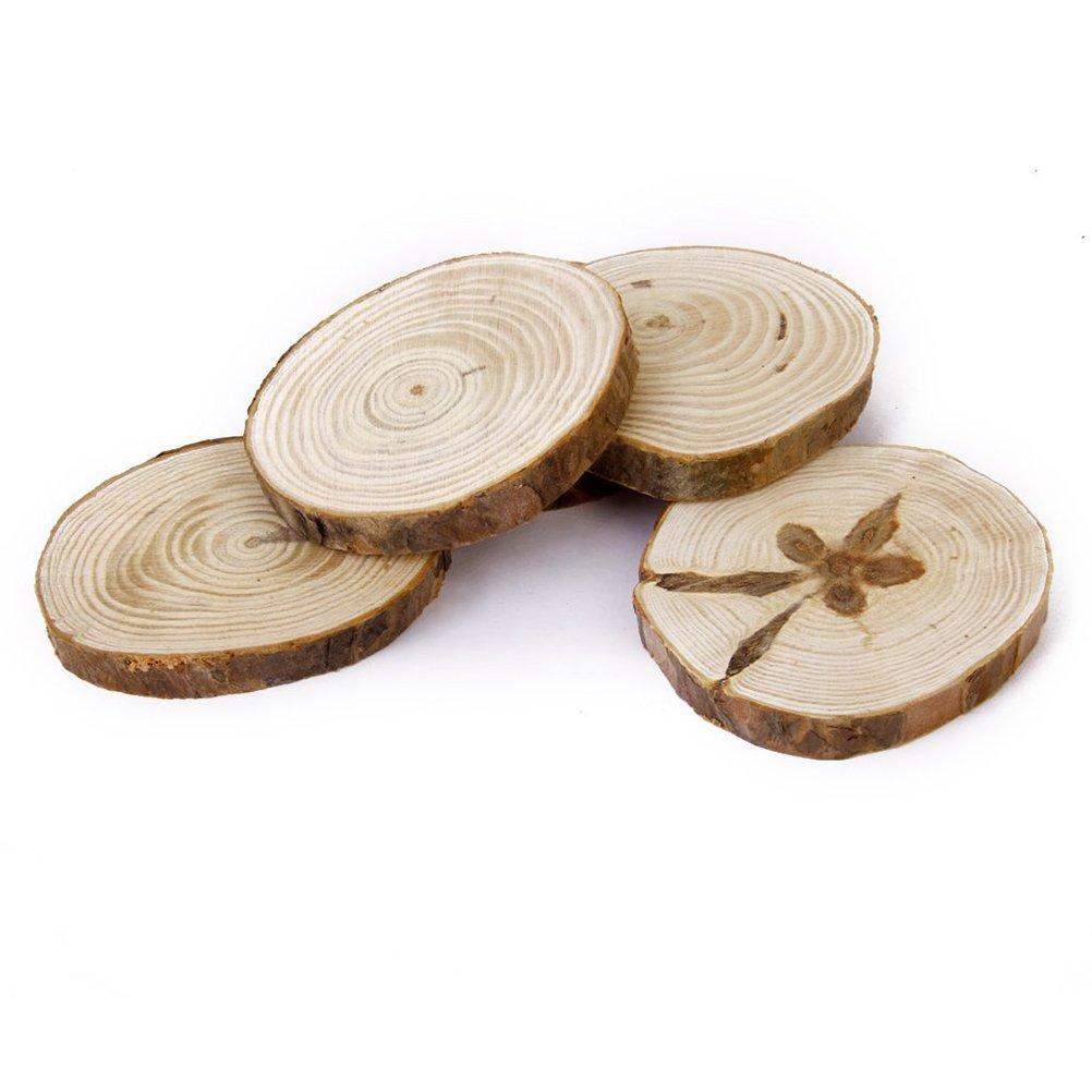 Amazon.com: OULII Wood Log Slices Discs for DIY Crafts Wedding ...