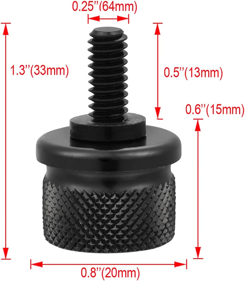 PBYMT Rear Seat Bolt Quick Release Seat Tab Cover Screws Hardware Kit Compatible for Harley Davidson Road King Street Electra Glide Heritage Dyna Softail 1997-2020