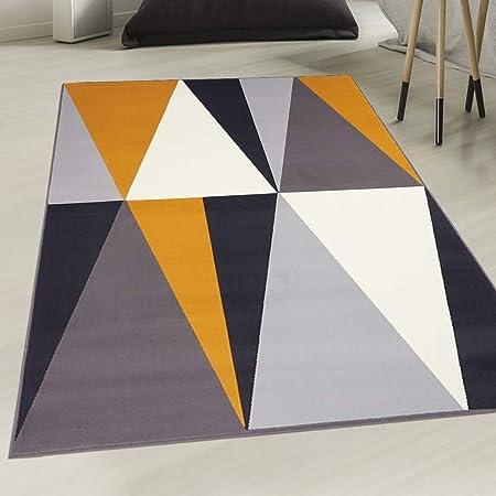 UN AMOUR DE TAPIS - tapis chambre af bigtri gris, jaune ...