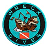 Wreck Diver Patch Embroidered Iron On Scuba Diving