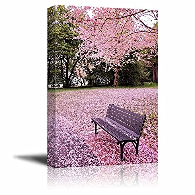 Classic Design, Gorgeous Artisanship, Beautiful Scenery Landscape of Cherry Blossom in Spring Wall Decor Wood Framed