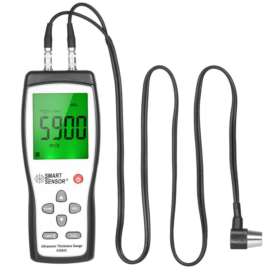 Yiruy SMART SENSOR AS840 Medidor de espesor ultrasó nico digital 1.2-225mm 1000-9999m / s Medidor de velocidad del sonido Medidor de profundidad del metal