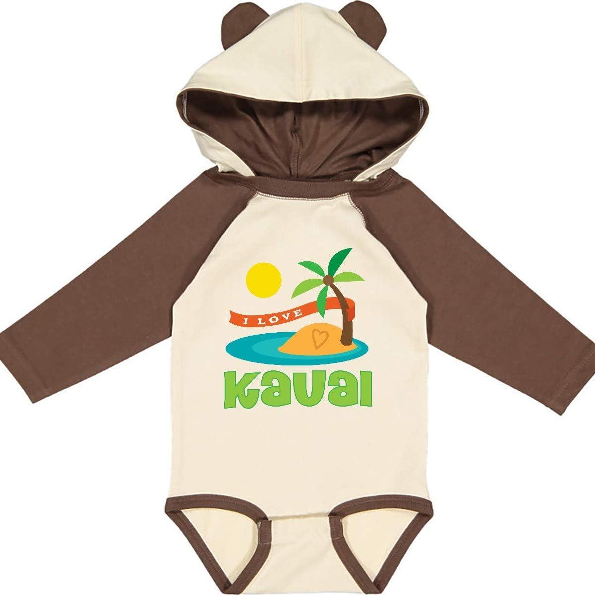 inktastic I Love Kauai Hawaii Long Sleeve Creeper