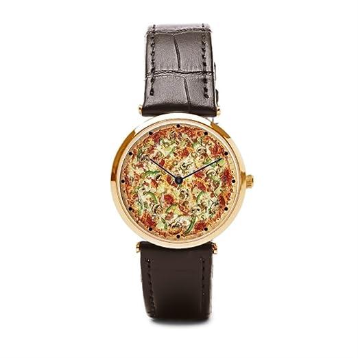 Starry Sky reloj de pulsera marcas Pizza Pie para hombre relojes piel: Amazon.es: Relojes
