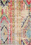 Tribal Rug Modern Overdyed Distressed Rug Multi 4' x 6' FT (122cm x 183cm) Brighton Area Rugs Abstract Tribal Fancy Contemporary Living & Bedroom Rugs