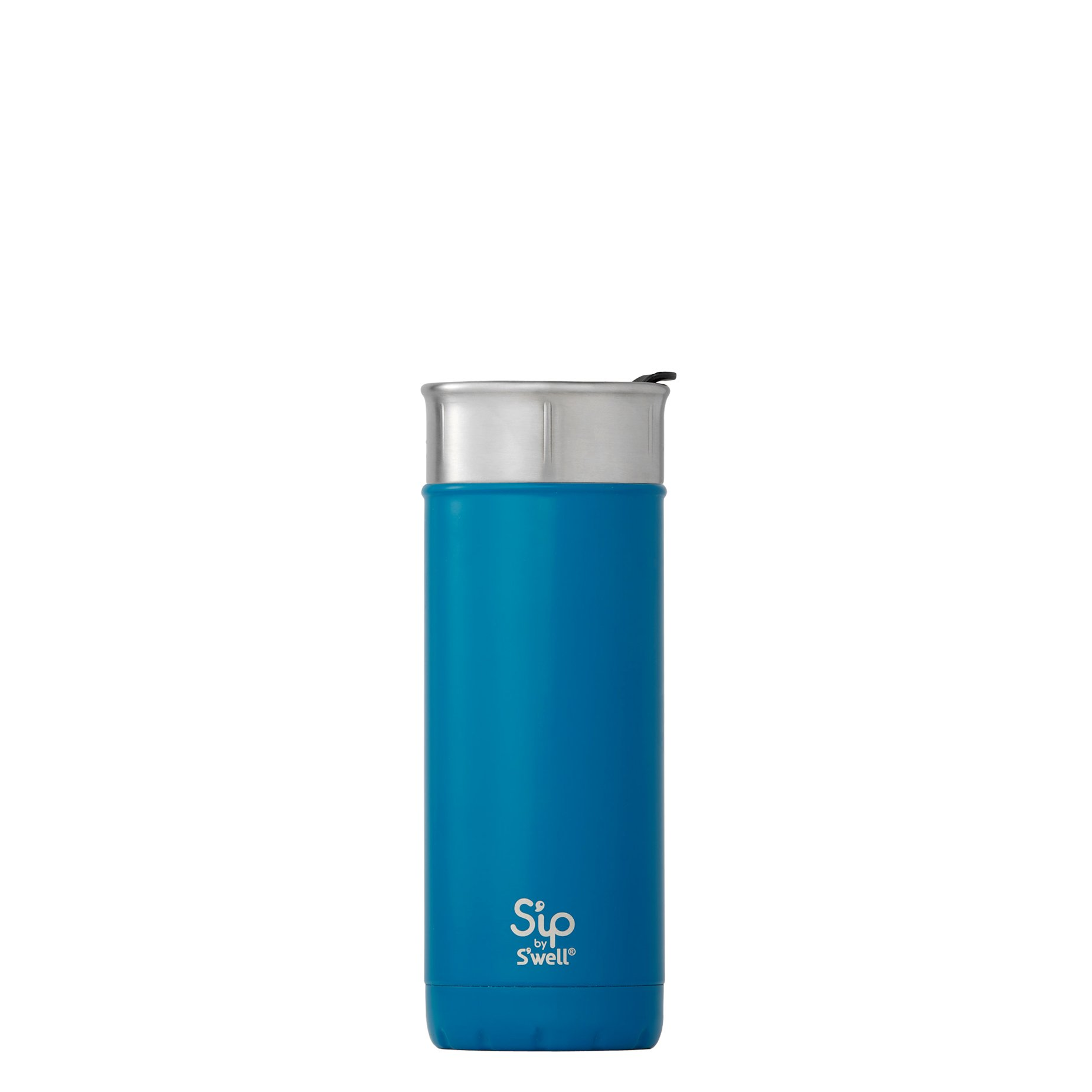 S'ip by S'well 20316-A18-03540 Travel Mug, 16oz, Jersey Blue by S'well