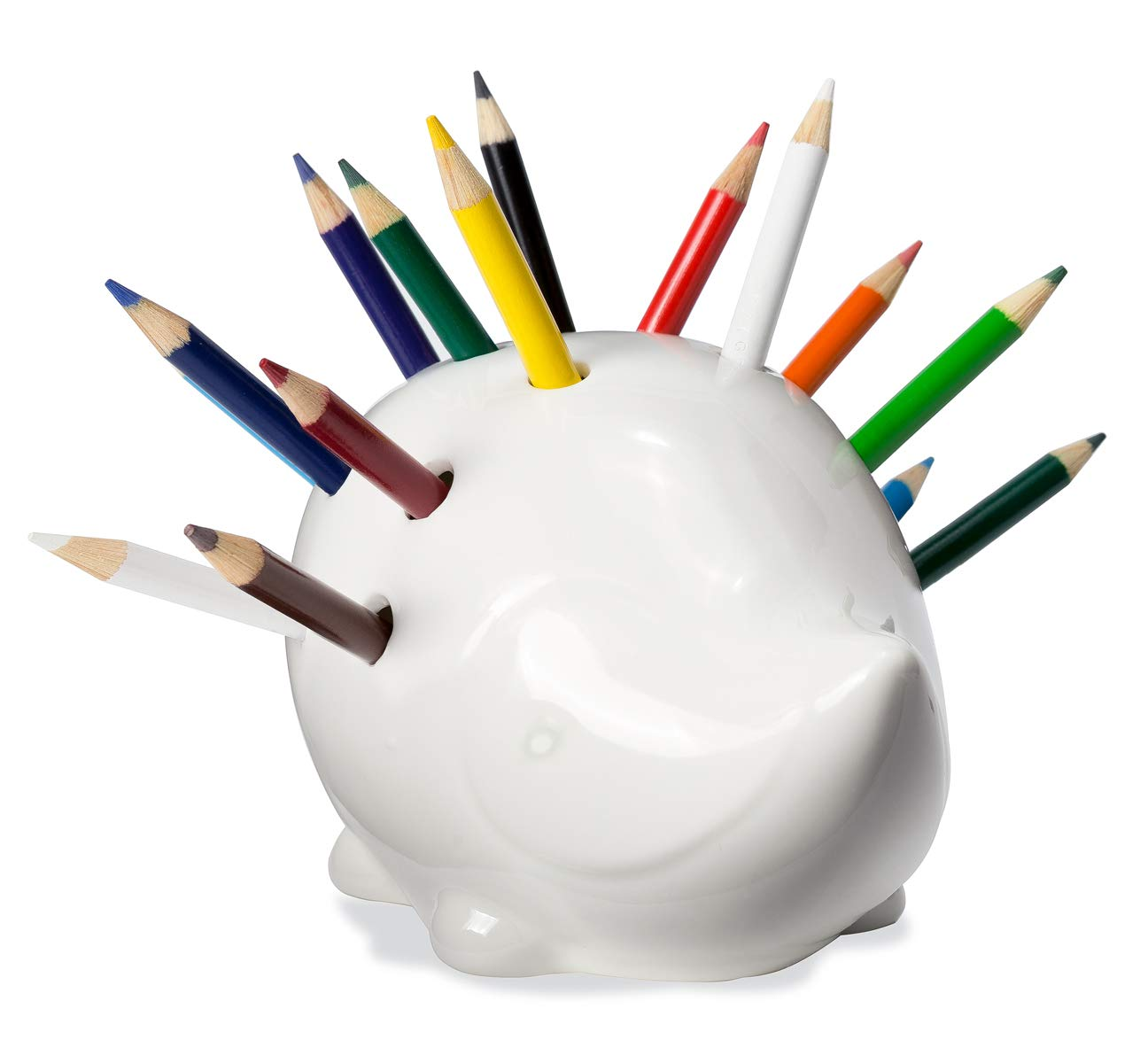 Novelty Creative Artistic Decor Metal Pencil Pen Holder Vase Pot Home Office Table Decoration Holiday Birthday Art Gift Pen Holders