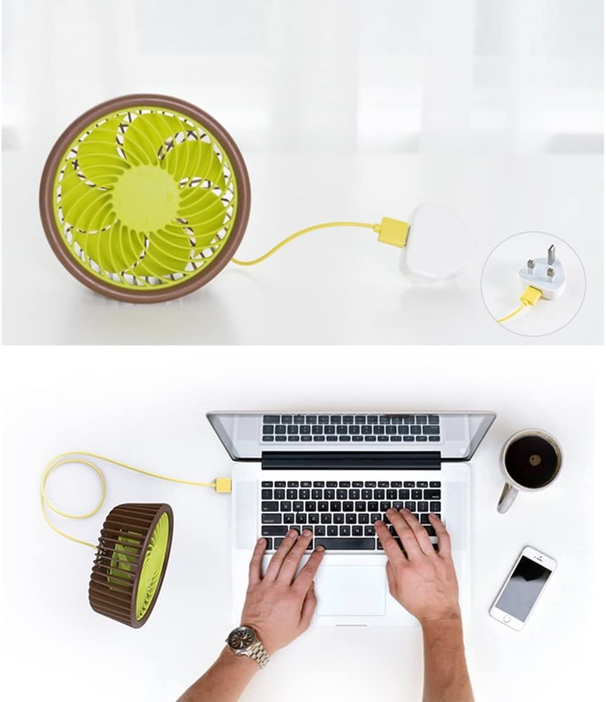 DNXL Electric Fan Creative Portable Fashion Desktop Kiwi Quiet Mini Fan for Student Dormitory//Office
