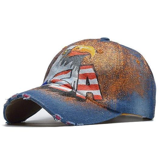 FBXYL Gorra De Béisbol con Letras De EE. UU. Sombreros Snapback De ...