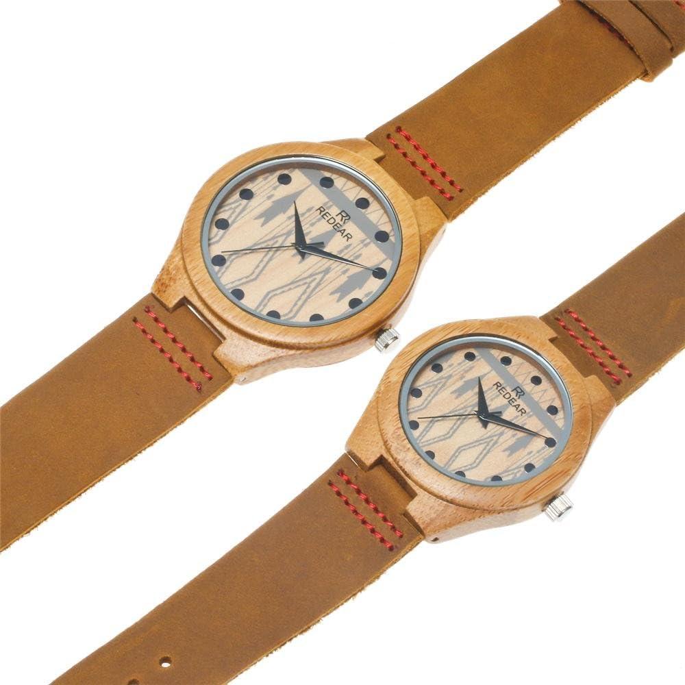 Reloj de Madera de bambú para Hombre, Cuarzo japonés y con la ...