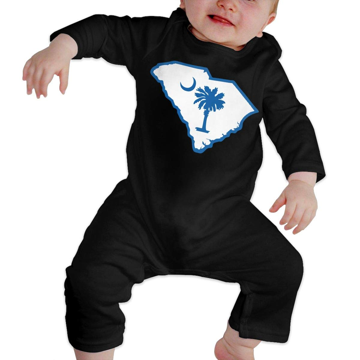 South Carolina State Flag Newborn Baby Boy Girl Romper Jumpsuit Long Sleeve Bodysuit Overalls Outfits Clothes