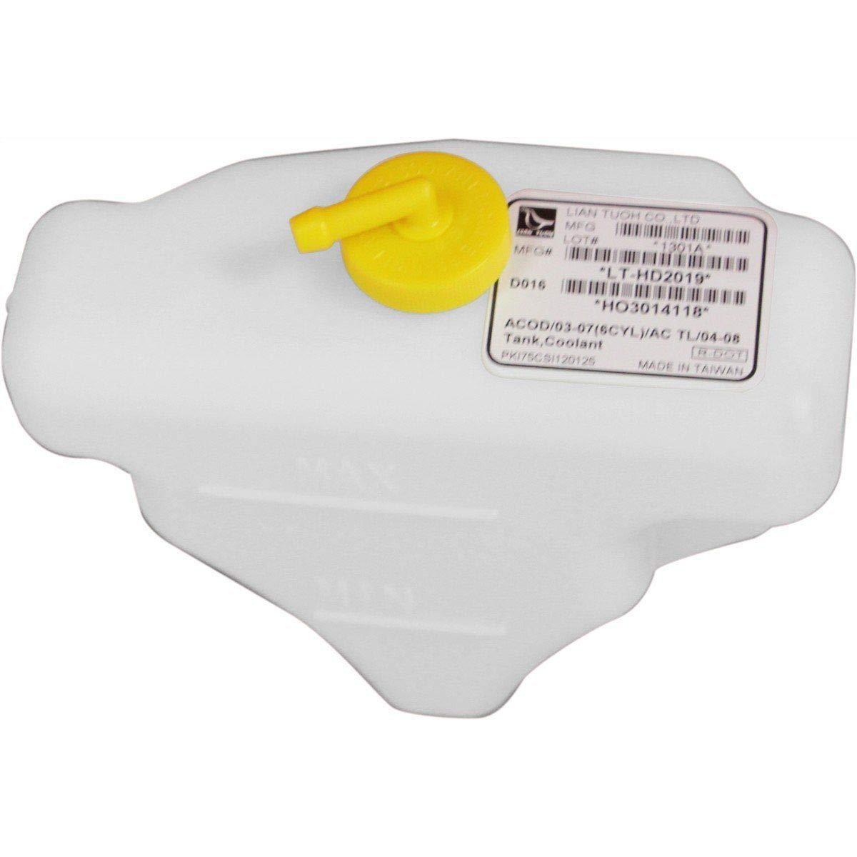 BROCK Coolant Recovery Tank Expansion Bottle Reservoir w//Cap Replacement for Honda Accord Acura TL 6 cyl 19101RCAA00 19102PM5A00