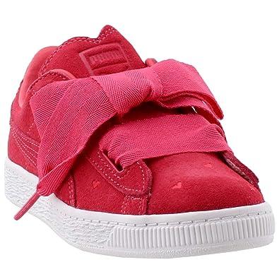 online retailer 6d8e6 3d67b Amazon.com: PUMA Kids Womens Suede Heart Valentine (Little ...