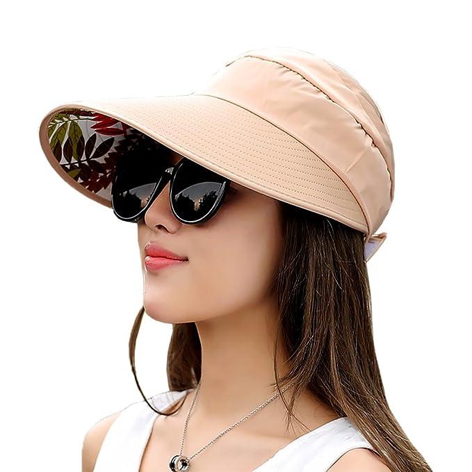 913e8acf1 Sun Visor Hats Women's Wide Brim Sun UV Protection Visor Hats for Fishing  Runner Beach