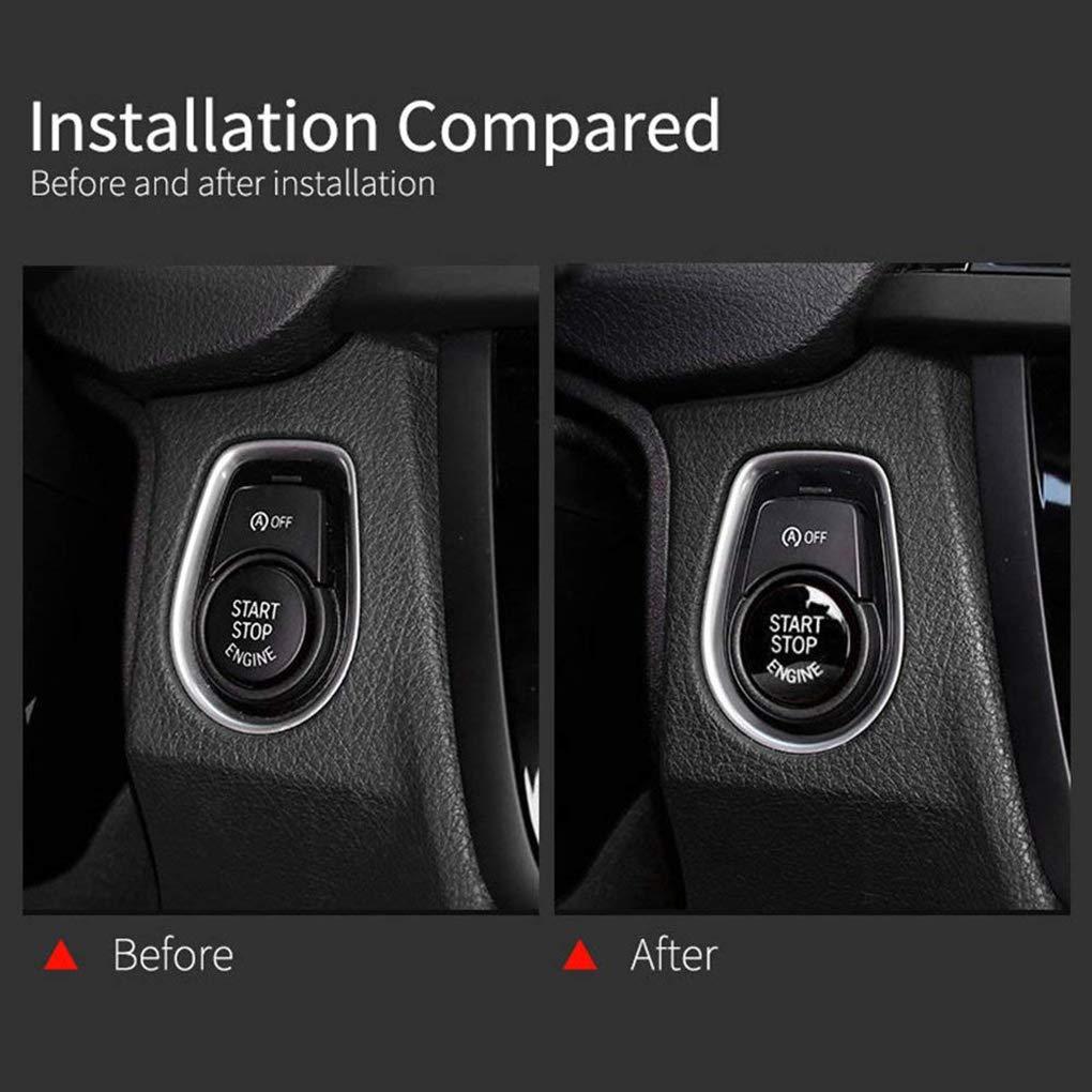 censhaorme ABS bot/ón del Interruptor del Motor de Coche Start Stop Cubierta para BMW E60 E70 E71 E90 E92