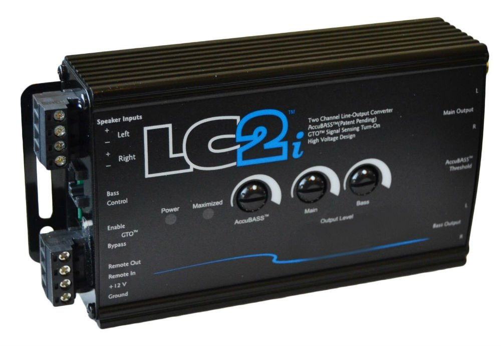 LC2i Black 2 Channel Line-Output Converter with AccuBASS