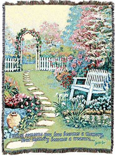 (Pure Country Weavers Garden Memory Blanket | Woven Tapestry Cotton for The Loss of Loved One, Mother, Father, Wife, Husband, Son, Daughter Cotton USA 72x54)