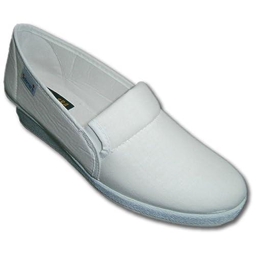 Zapatillas con gomas a los lados con cuña Salemera en blanco talla 40 YSQ6N8UlEo