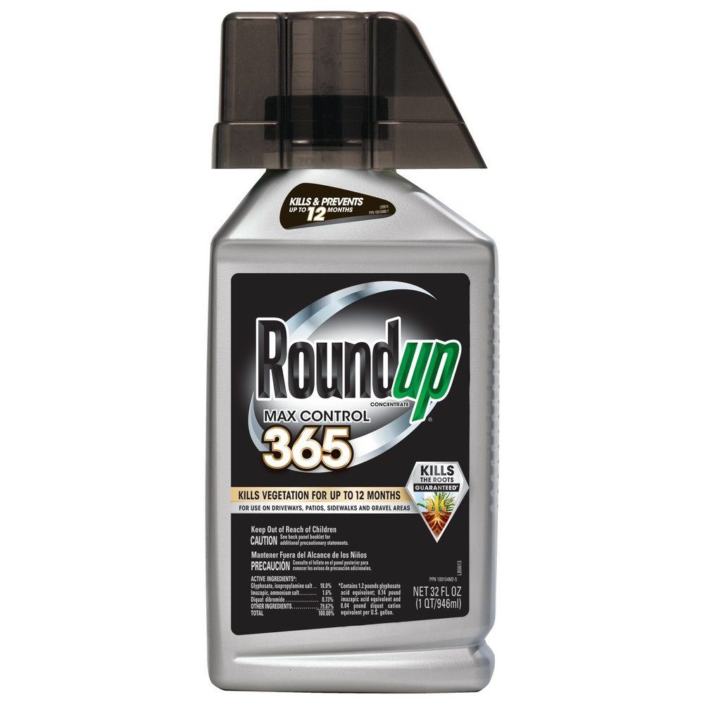 RoundUp Max Control 365 Concentrate Weed Killer Plus Weed Preventer (Case of 6), 32 oz