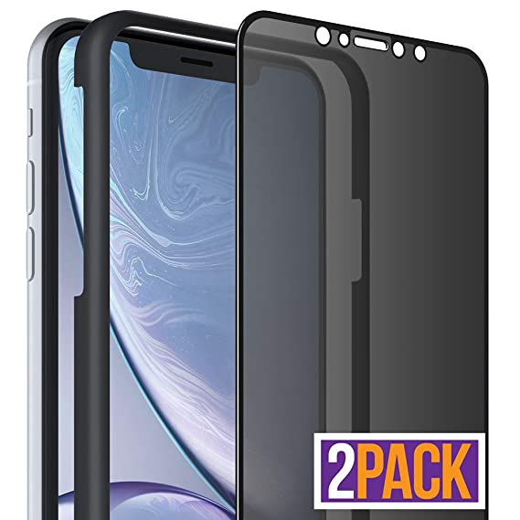 new product 57dbd 07352 FlexGear iPhone XR Privacy Glass Screen Protector [Full Coverage] Tempered,  Designed iPhone XR (2-Pack)