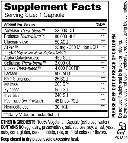 Enzymedica - Digest Gold with ATPro, Daily Digestive Support Supplement with Enzymes and ATP, 240 Capsules (FFP) 2