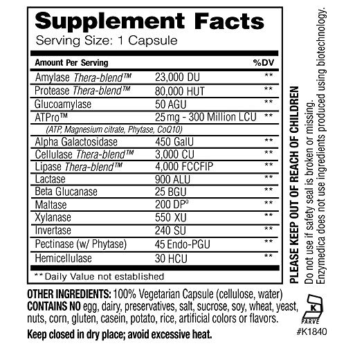 Enzymedica - Digest Gold with ATPro, Daily Digestive Support Supplement with Enzymes and ATP, 240 Capsules (FFP) by Enzymedica (Image #2)