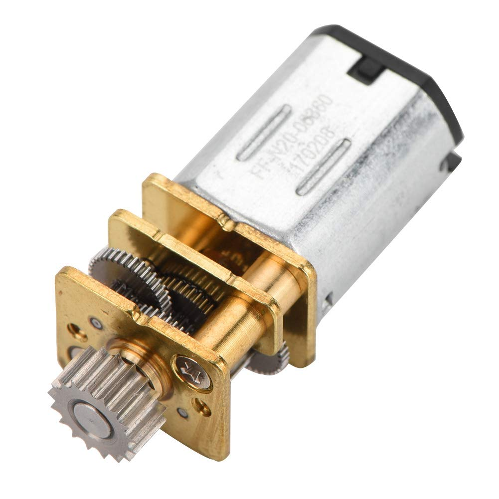 DC 12V Gear Motor 67RPM N20 Reduction Low Noise Low Speed Metal Gearbox Line Cutting Tool Low Heat Low Loss Micro Gear Motor