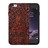 JuBeCo® Patterni Design iPhone 6/6S Plus(5.5 inch),Handmade Natural Solid Wood Case, Bamboo Case.iPhone Protective Shell (iPhone 6/6s Plus(5.5inch), buddha-rosewood)