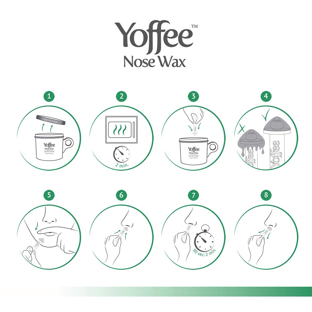 Yoffee Nose Wax 50g - Nasal Hair Removal with Natural Beeswax Formula   Safe, Quick and Painless
