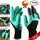Garden Genie Gloves Waterproof Garden Gloves With Claws for Digging & Planting ,Gardening,Cleaning,Restoration Work, Easy to Dig & Plan ,Right Hand Claws ,Unisex ,1 Pair-As seen on TV