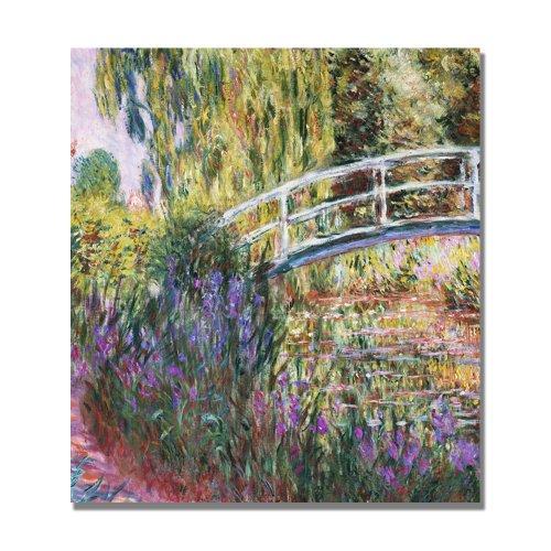 The Japanese Bridge IV by Claude Monet, 24x24-Inch Canvas Wall Art