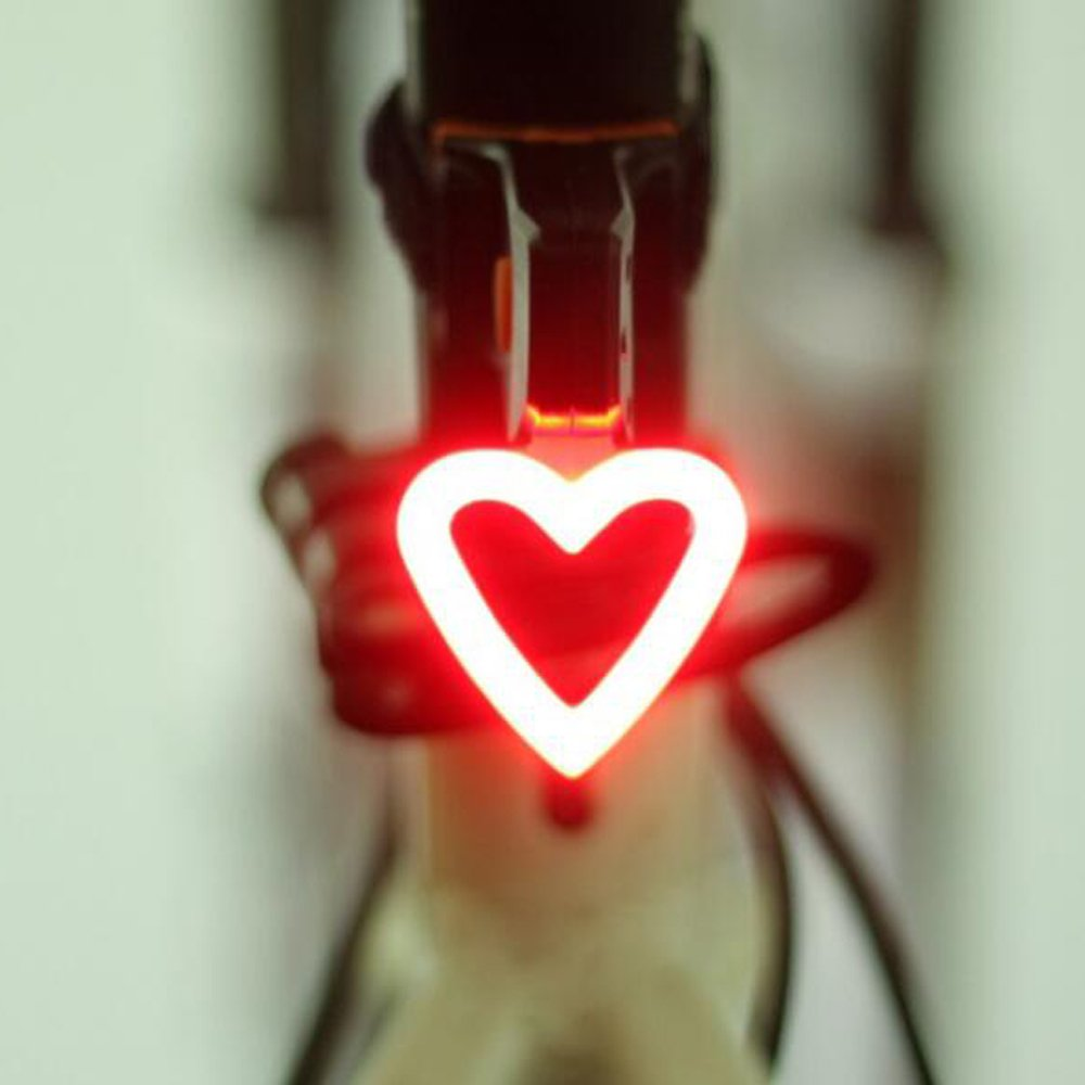 Eplze 防水自転車のリアランプ10ルーメン5モード充電式自転車の灯り B074FTZ1GV   愛の心