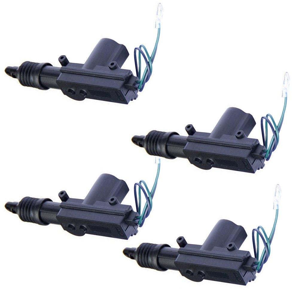 HOUTBY™ 2Pcs auto in nera porta potere pesanti universale blocco attuatore 2 fili 12V