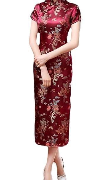 Amazon.com: FreelyWomen Traditional Plus-Size Split Elegant Chinese ...